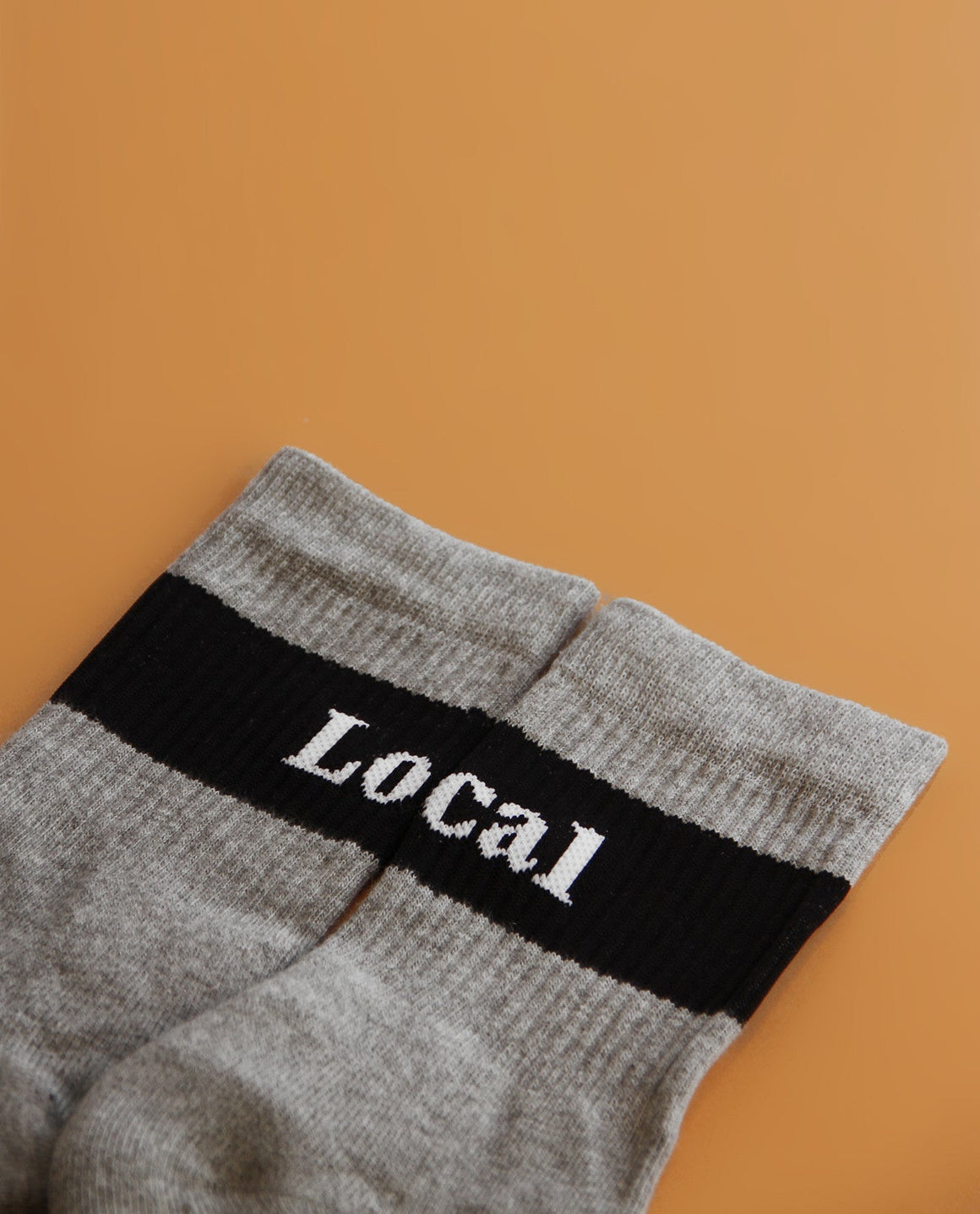 Local Socks Gray - Local Pattern