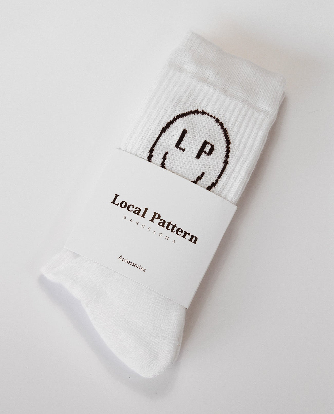 Smile LP White Socks - Local Pattern  - 2