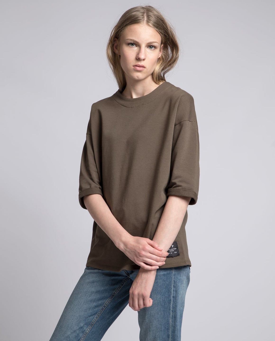 Rolled Sleeves Sweatshirt - Local Pattern  - 1