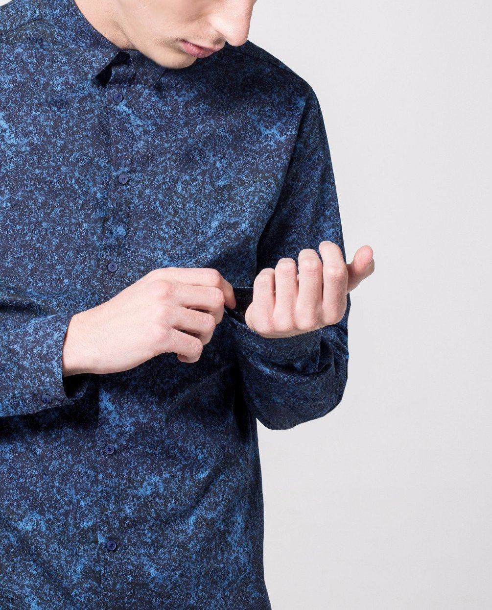 Texture Print Shirt - Local Pattern  - 1