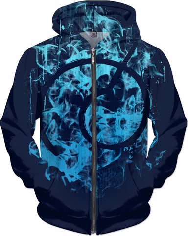 God Symbol - All Over Print Zip Hoodie
