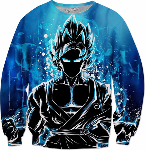 Super Saiyan - Goku Ssj God Blue - All Over Print Sweatshirt - TL00942AS