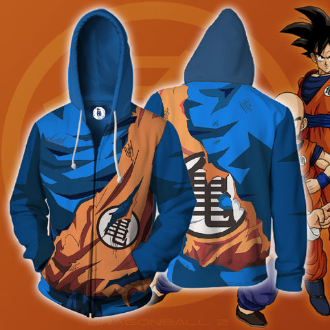 Dragon Ball Goku Armor 3D Print Zip Hoodies - TIANDK18
