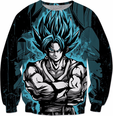 Super Saiyan - SSJ Vegito God Blue - All Over Print Sweatshirt - TL000898AS