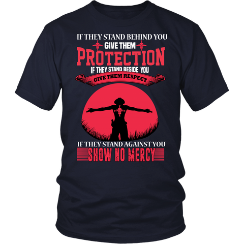 One Piece- If they stand behind you give them protection ace version -Men Short Sleeve T Shirt - TL01405SS