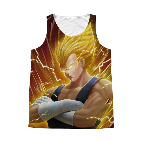 Super Saiyan - Vegeta SSj 2 - 1 Sided 3D tank top t shirt Tank - TL01277AT