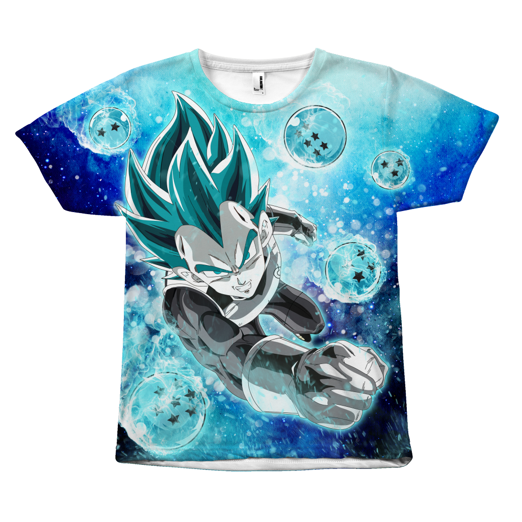 Super Saiyan - Vegeta SSj Blue with dragon balls - All Over Print T Shirt - TL01180AO