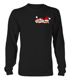 Christmas Long Sleeve- 3 CHRISTMAS CATS IN THE POCKET -Unisex Long Sleeve - The TShirt Collection