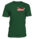 Christmas Short Sleeve- 3 CHRISTMAS CATS IN THE POCKET -Men Short Sleeve - SSID2016
