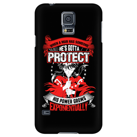 Inuyasha - When A Men Has Someone, He's Gotta Protect His Power Grows Expomentially - Android Phone Case - TL01332AD