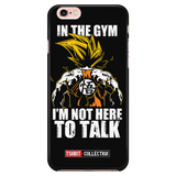 Super saiyan goku not to talk in gym training workout Iphone Case - TL00553PC