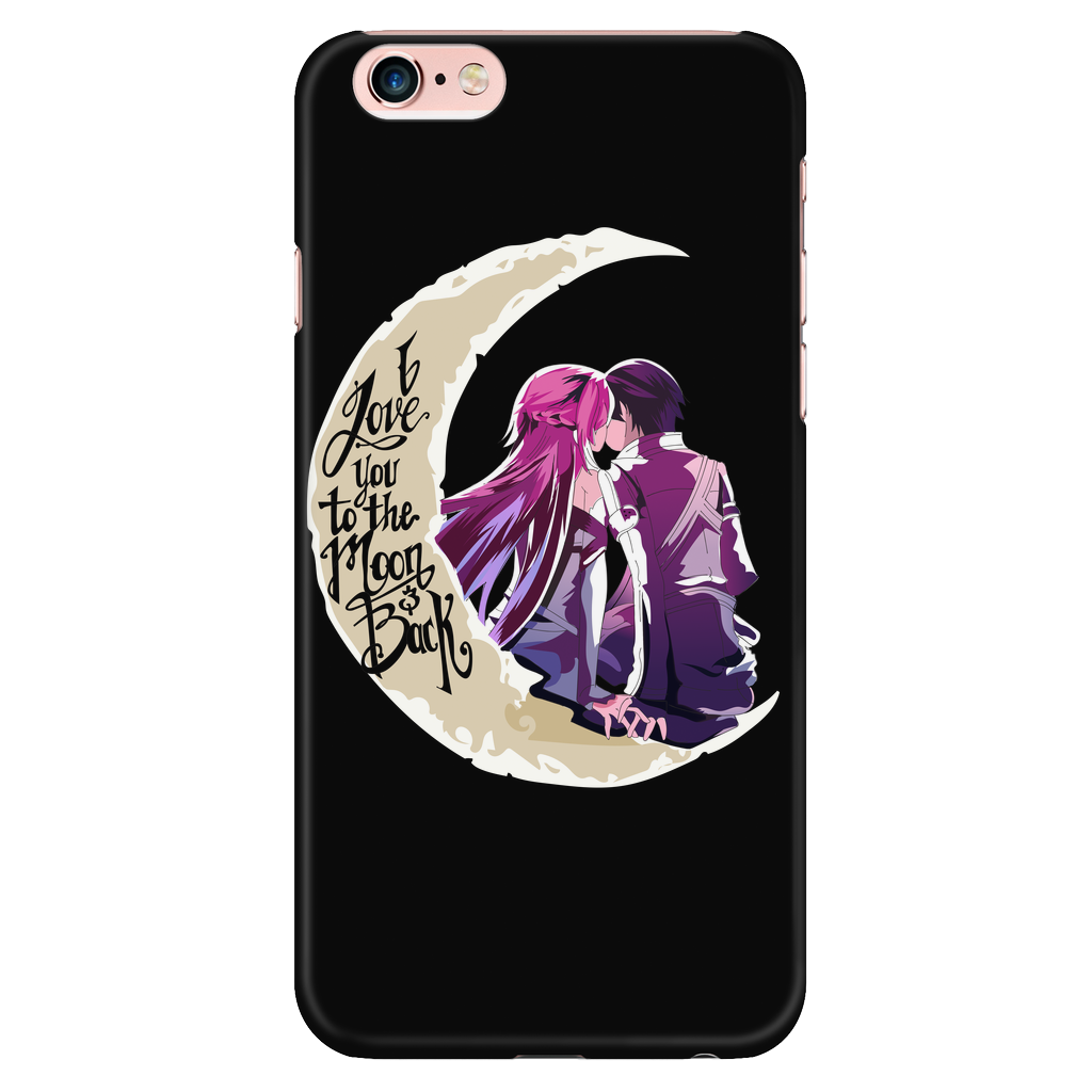 official photos 1dbb5 09a0d SAO Sword Art Online - I Love you to the moon and back - Iphone Phone Case  - TL01221PC