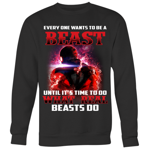 Super Saiyan- Jiren Everyone wants to be a beast - Unisex Sweater - TL01489SW