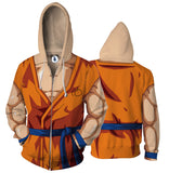Super Saiyan  Zip Hoodies 3D Men Women Hooded Tracksuits