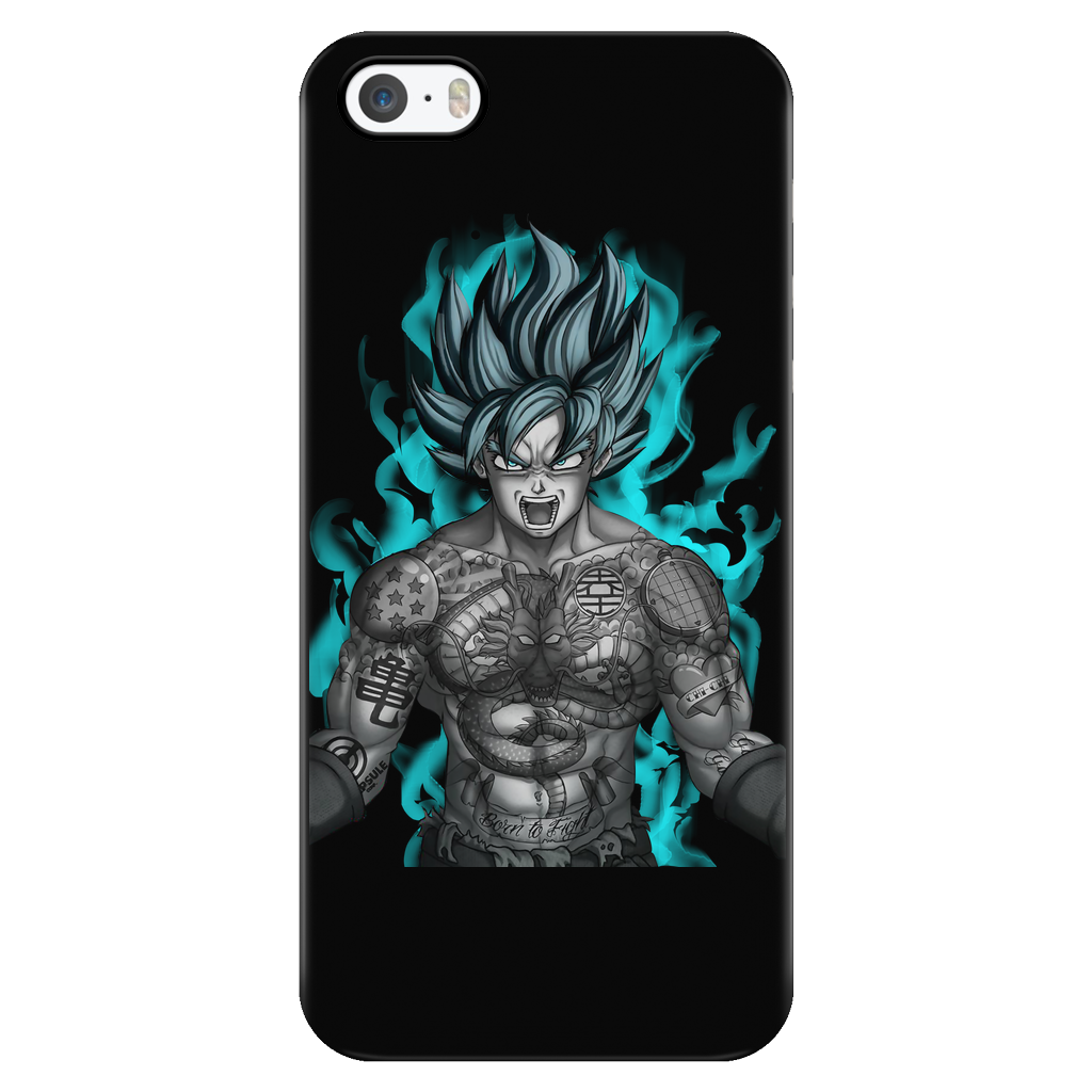 Super saiyan goku with tattoo iphone phone case for Tattoo artist iphone cases
