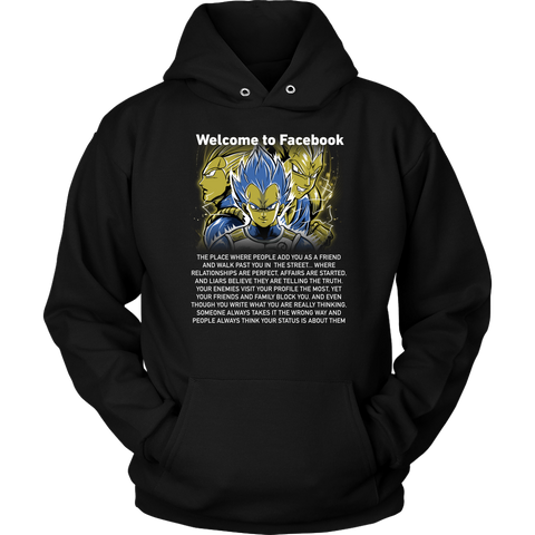 Super saiyan vegeta shirt - Welcome to Facebook - Unisex Hoodie - TL01611HO
