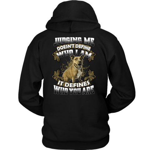 Pitbull Collection-  Judging me doesnt define who i am -Unisex Hoodie - TL01692HO
