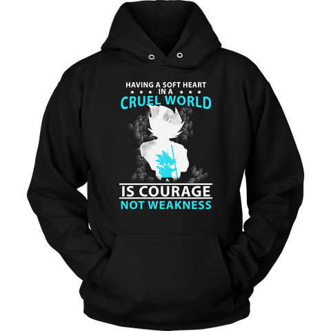 Super Saiyan - having a soft heart in a cruel world -Unisex Hoodie- TL01796HO