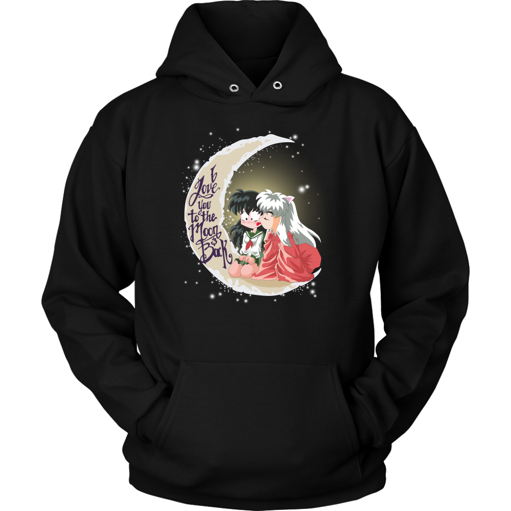 Inuyasha - i love you too the moon and back -Unisex Hoodie - TL01644HO
