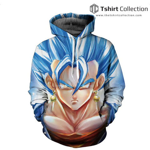 Super Saiyan Vegeta God Blue 3D Print Sweatshirts Pullover Hoodies