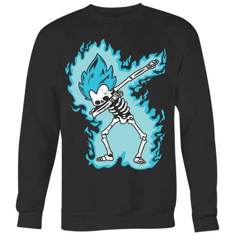 Super Saiyan - Vegeta God Dab Skeleton X Ray Costume - Unisex Sweatshirt - TL01420SW