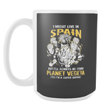 Super Saiyan I May Live in Spain 15oz Coffee Mug - TL00112M5