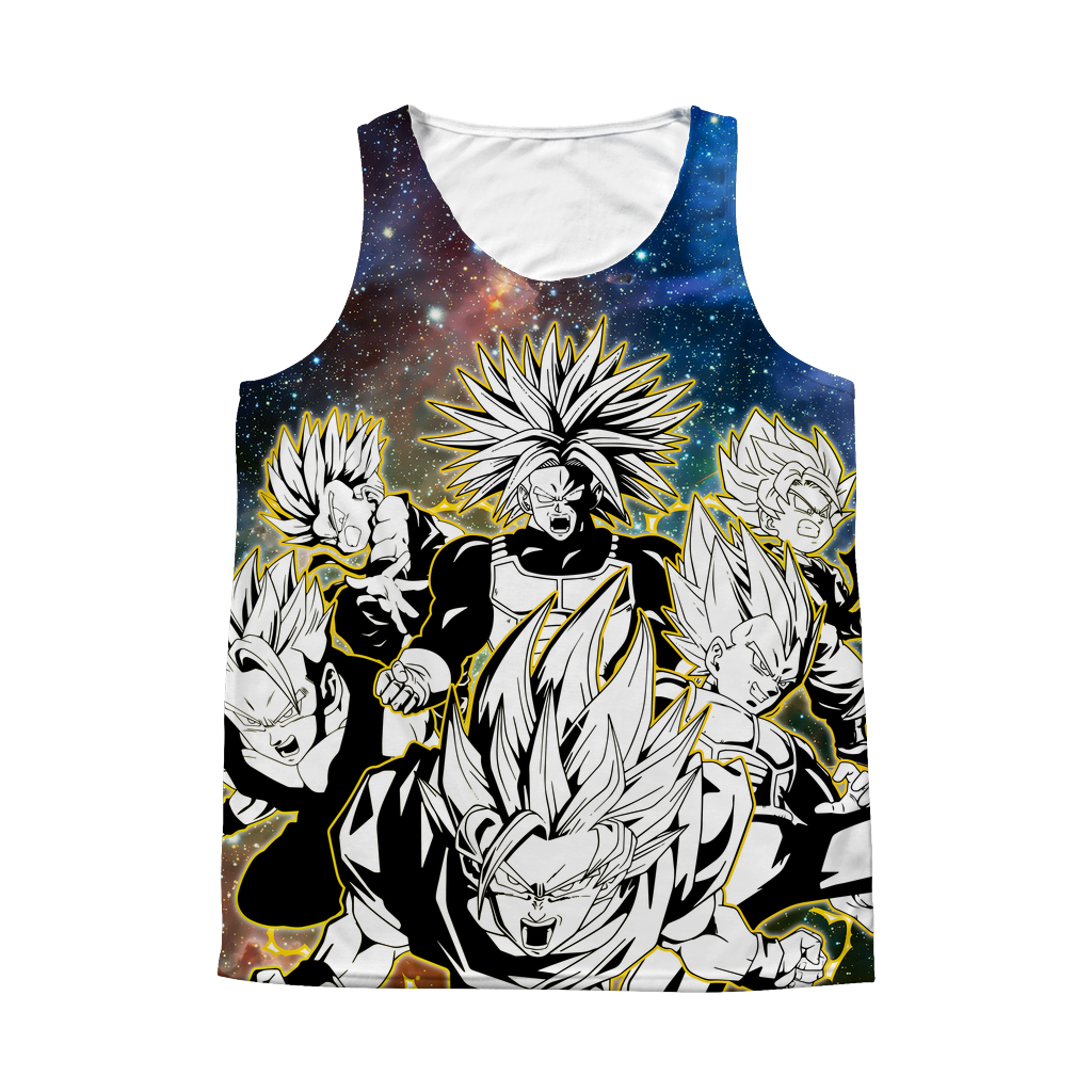 Super Saiyans 1 Sided 3D tank top t shirt Tank - TL00418AT