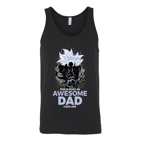 Dragon Ball Super Goku Cool Dad Master Ultra Instinct Art Unisex Tanktop - TL01630TT