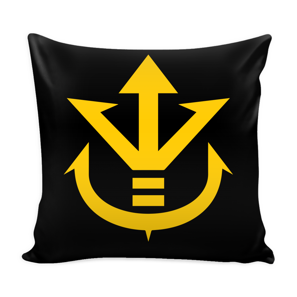 "Super Saiyan Yellow Vegeta Saiyan Crest Pillow Cover 16"" - TL00014PL"