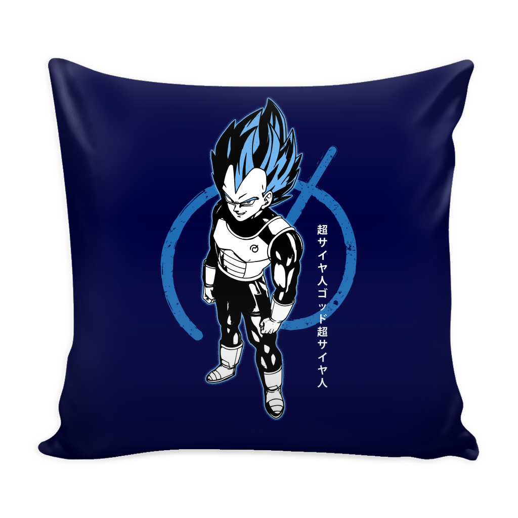 "Super Saiyan Blue Vegeta God Pillow Cover 16"" - TL00016PL"