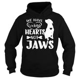 Pitbull Collection- WE HAVE LOCKING HEARTS NOT JAWS - Unisex Hoodie - SSID2016