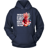 Super Saiyan - How to live with pain - Unisex Hoodie  - TL01666HO
