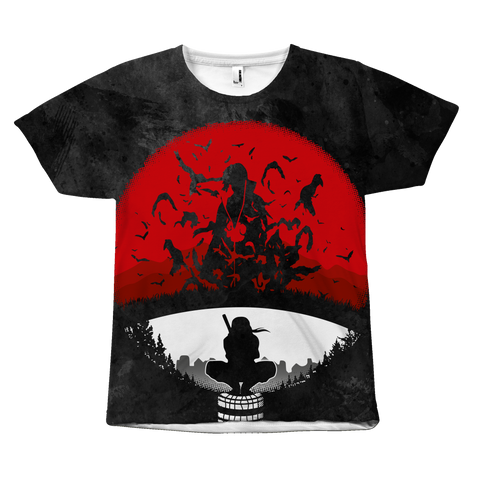 Naruto - Itachi red sun - All Over Print T Shirt - TL01219AO