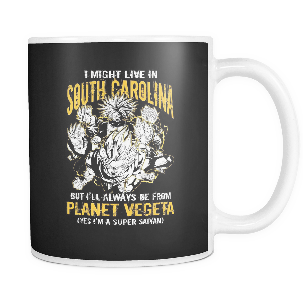 Super Saiyan I May Live South Carolina 11oz Coffee Mug - TL00083M1