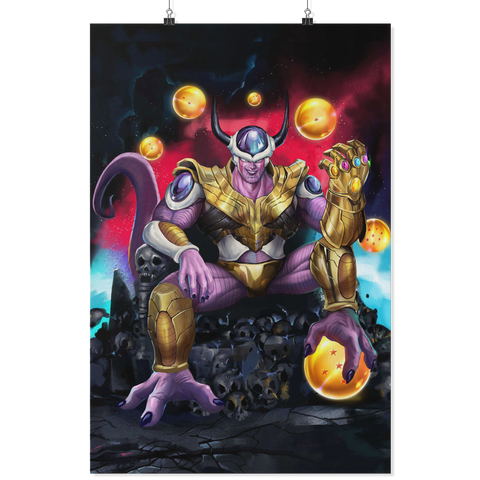 Dragon Ball Avenger Endgame Frieza Infiniti war Thanos Stone  - Poster - TL01708PO