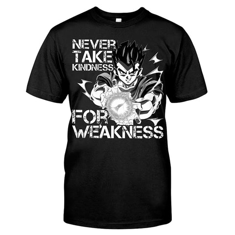 Super saiyan GOHAN - NEVER TAKE KINDNESS FOR WEAKNESS - Men Short Sleeve T Shirt - SSID2016