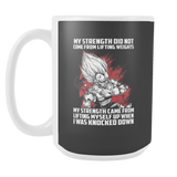 Super Saiyan Majin Vegeta Lift up when being knocked down 15oz Coffee Mug - TL00468M5