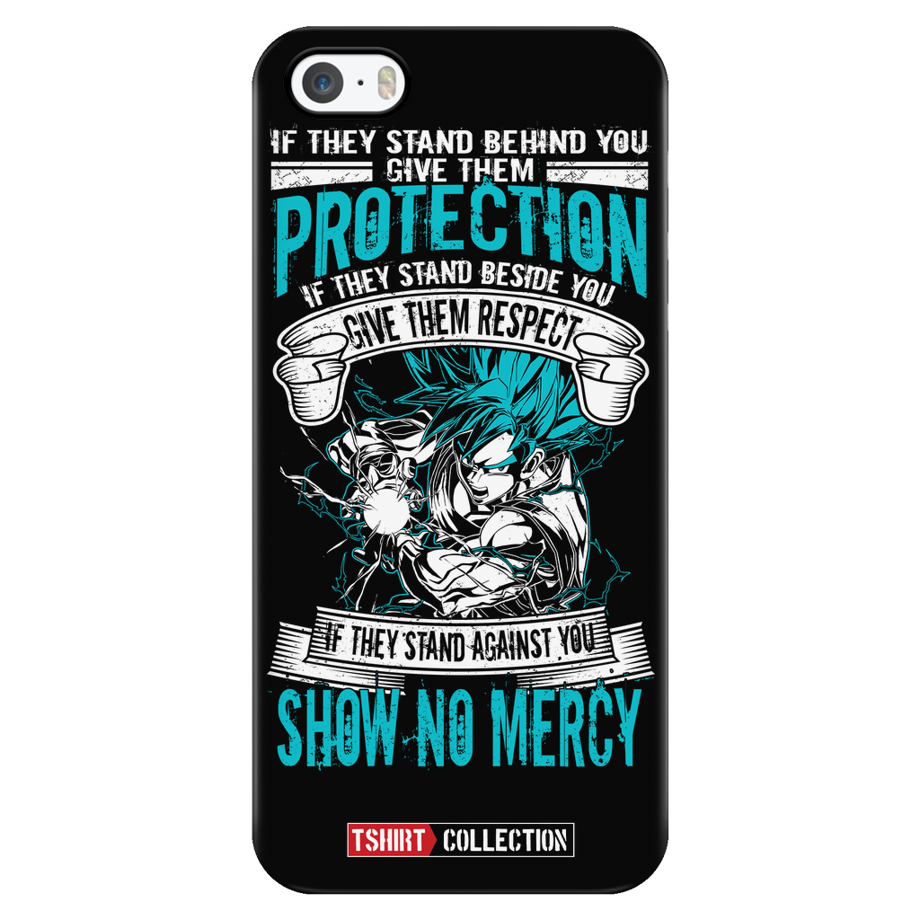 Super Saiyan Goku God Blue No Mercy iPhone 5, 5s, 6, 6s, 6 plus, 6s plus phone case - TL00017PC-BLACK
