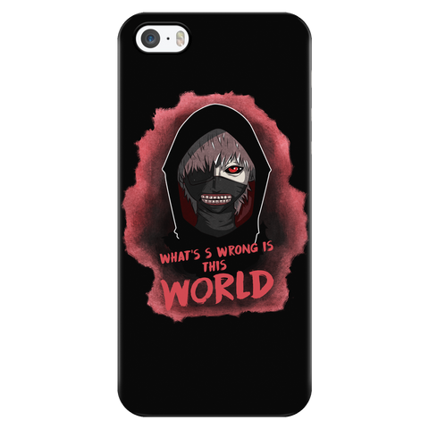 Tokyo Ghoul - Kaneki What's wrong is this world - Iphone Phone Case - TL01048PC
