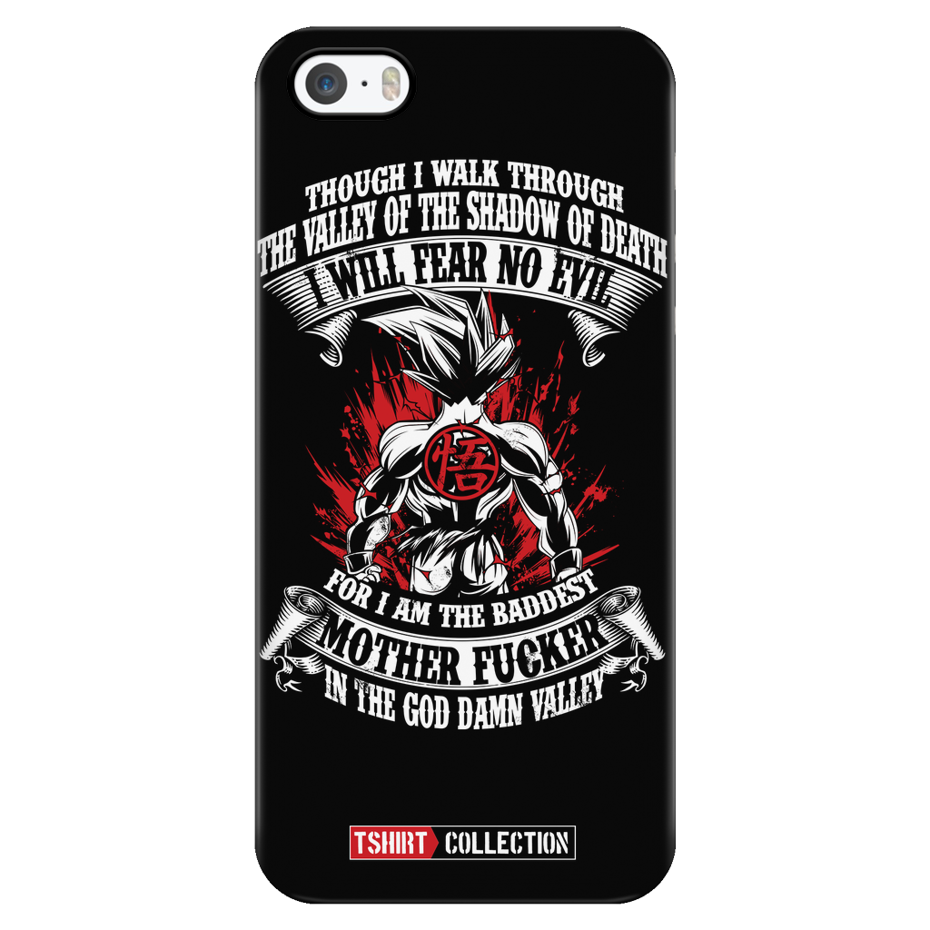 Super Saiyan Goku Fear No Evil iPhone 5, 5s, 6, 6s, 6 plus, 6s plus phone case - TL00246PC-BLACK
