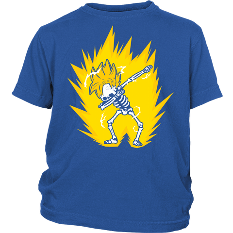 Super Saiyan - Goku SSJ Dab Skeleton X Ray Costume - Youth Kid Shirt - TL01421YS