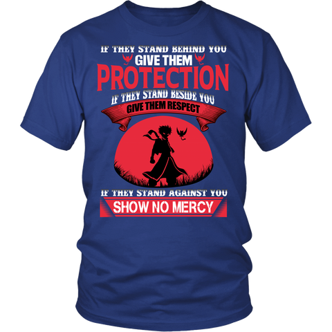 Fairy Tail - If they stand against you show no mercy -Men Short Sleeve T Shirt - TL01507SS