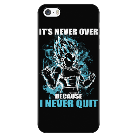 Super Saiyan - Vegeta SSJ Blue Never Quit - Iphone Phone Case - TL00879PC