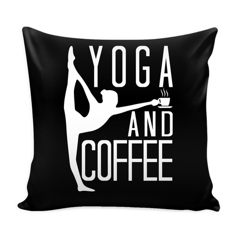 "Yoga - Yoga And Coffee - Pillow Cover 16"" - TL00891PL"
