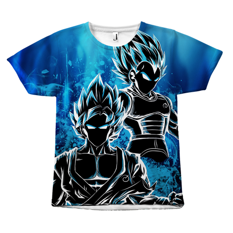 Super Saiyan - Goku and Vegeta SSj God Blue - All Over Print T Shirt - TL00950AO