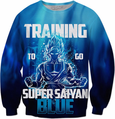 Training to go super warrior god blue - All Over Print Sweatshirt - TL00943AS