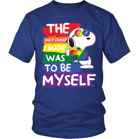 Gay Lesbian LGBT Shirt - The only choice i made was to be myself - Men Short Sleeve T Shirt - TL01411