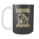 Super Saiyan Gohan Show Mercy in Battle 15oz Coffee Mug - TL00446M5