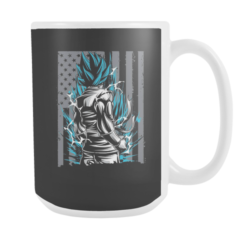American Super Saiyan God Blue Goku 15oz Coffee Mug - TL00002M5 - The TShirt Collection