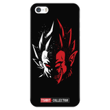 Super Saiyan Vegeta half face iPhone 5, 5s, 6, 6s, 6 plus, 6s plus phone case - TL00231PC-BLACK